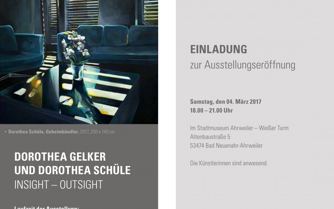 Dorothea Gelker und Dorothea Schüle / INSIGHT – OUTSIGHT
